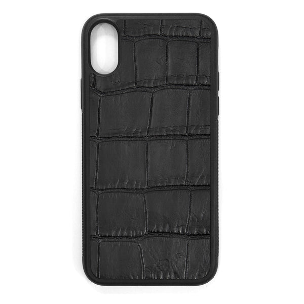 Black Alligator iPhone XS Leather Case