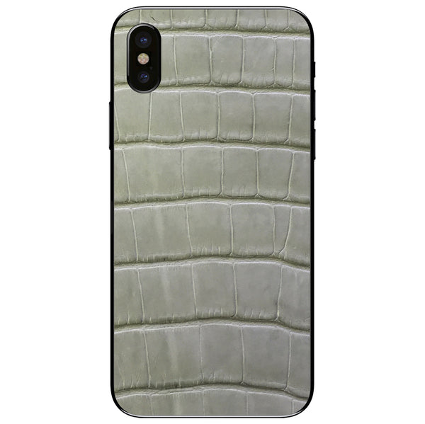 Laurel Green Alligator iPhone XS Leather Skin