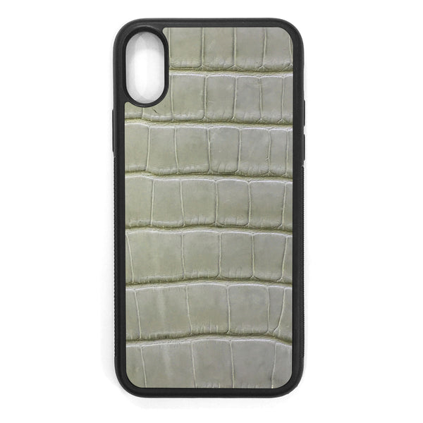 Laurel Green Alligator iPhone XS Leather Case