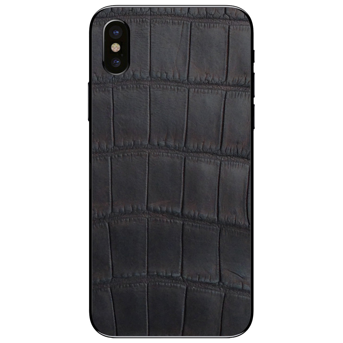 Oiled Brown Alligator iPhone X Leather Skin