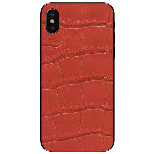 Red Alligator iPhone XS Leather Skin