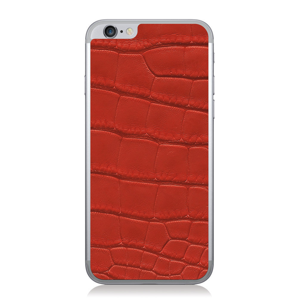 Red American Alligator iPhone 6/6s Leather Skin