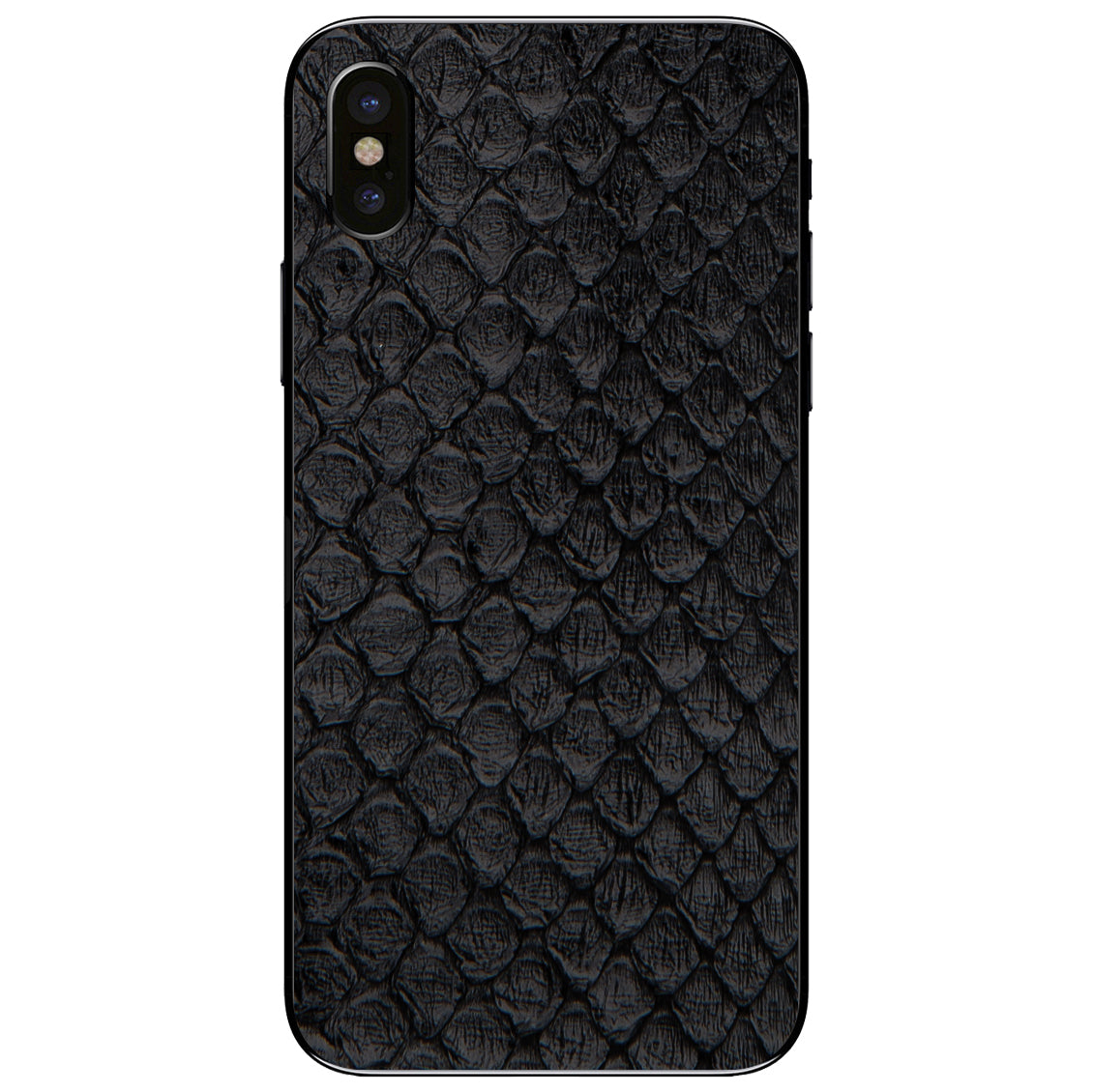 Black Anaconda iPhone X Leather Skin