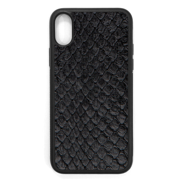 Black Anaconda iPhone X Leather Case