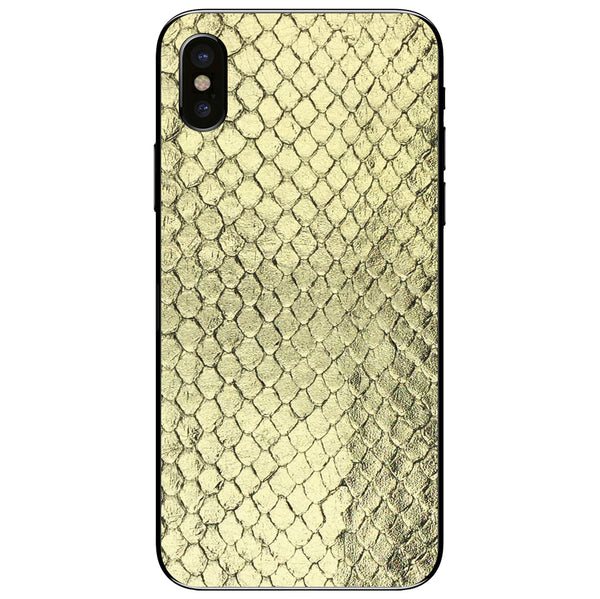 Gold Foil Anaconda iPhone XS Leather Skin