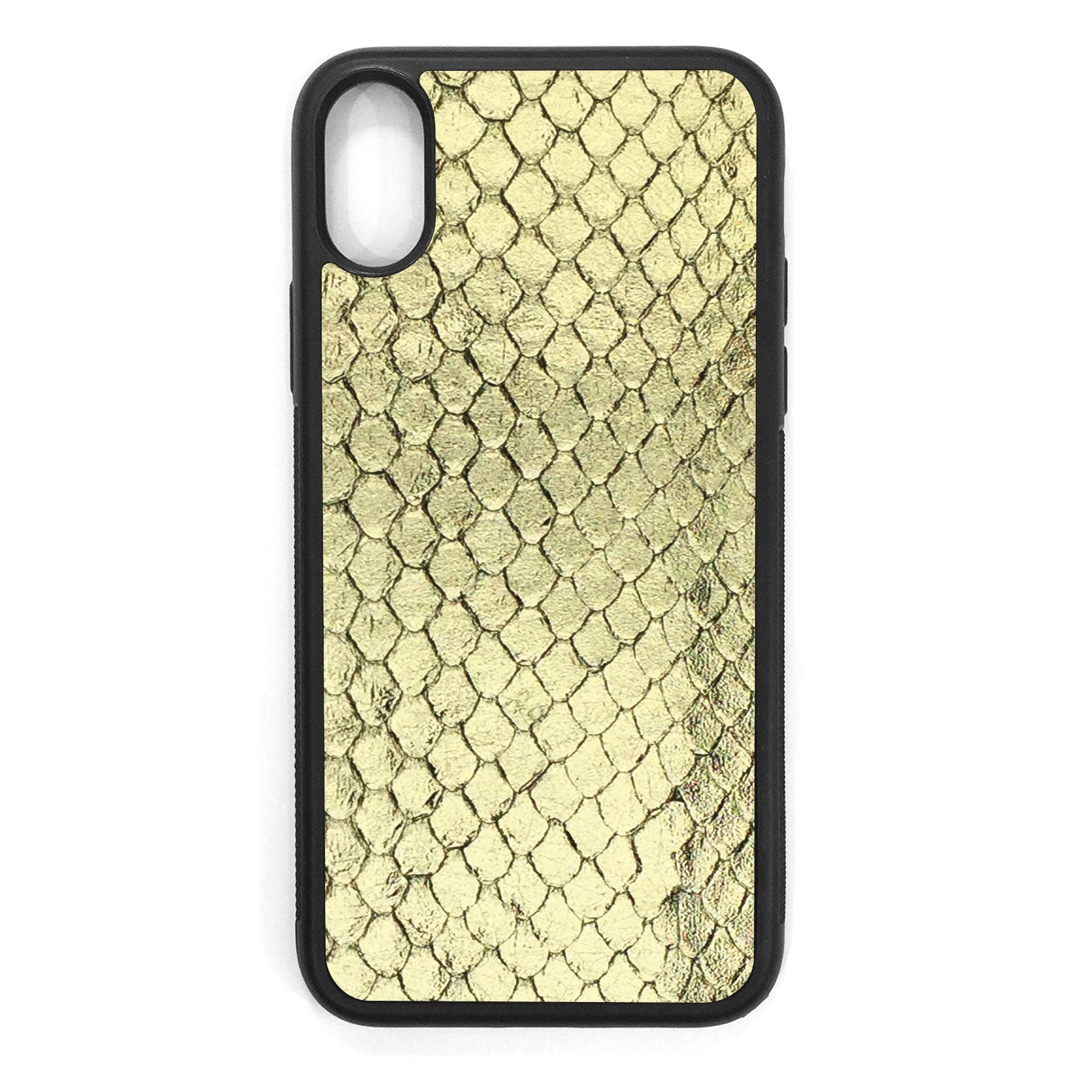 Gold Foil Anaconda iPhone X Leather Case