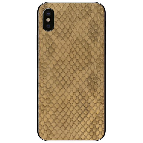 Gold Anaconda iPhone XS Leather Skin