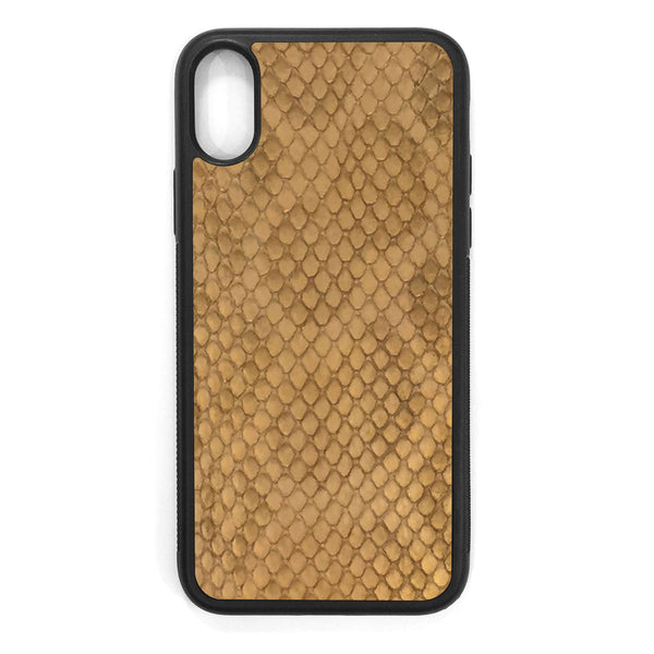 Gold Anaconda iPhone X Leather Case