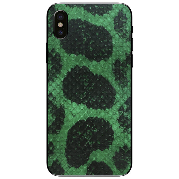 Green Anaconda iPhone XS Leather Skin