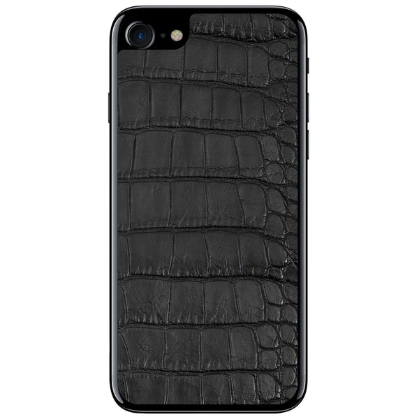 Black Alligator iPhone 8 Leather Skin