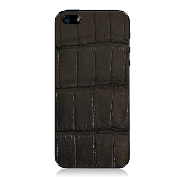 Black American Alligator iPhone 5 - 5S - SE Leather Skin