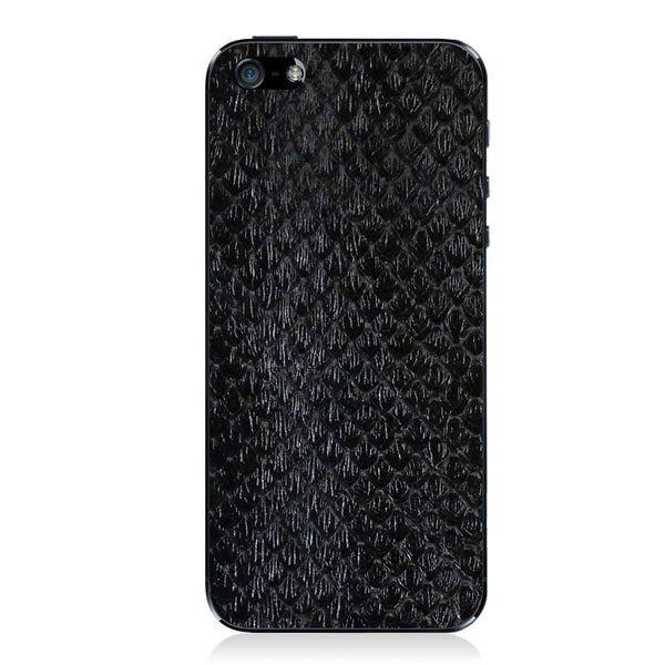 Black Anaconda iPhone 5 - 5S - SE Leather Skin