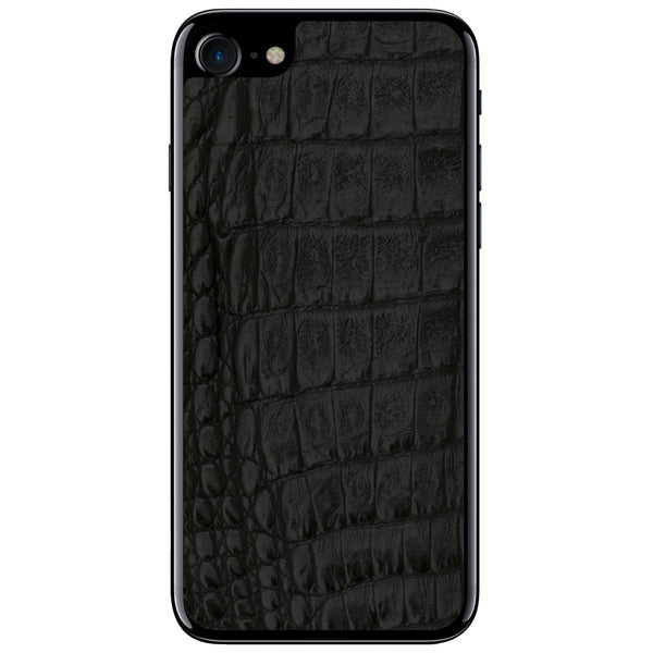 Black Crocodile iPhone 8 Leather Skin