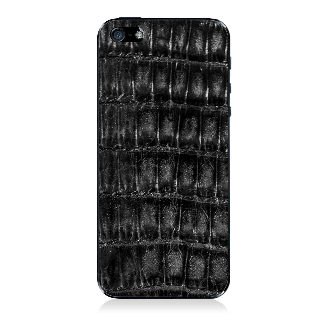 Black Crocodile iPhone 5 - 5S - SE Leather Skin