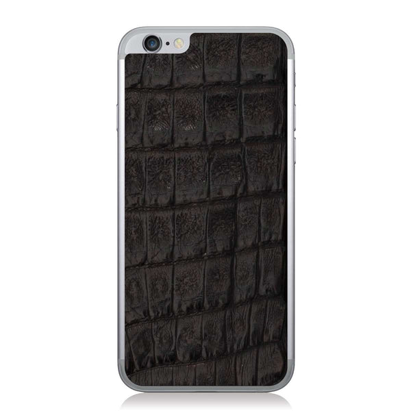Black Crocodile iPhone 6/6s Leather Skin