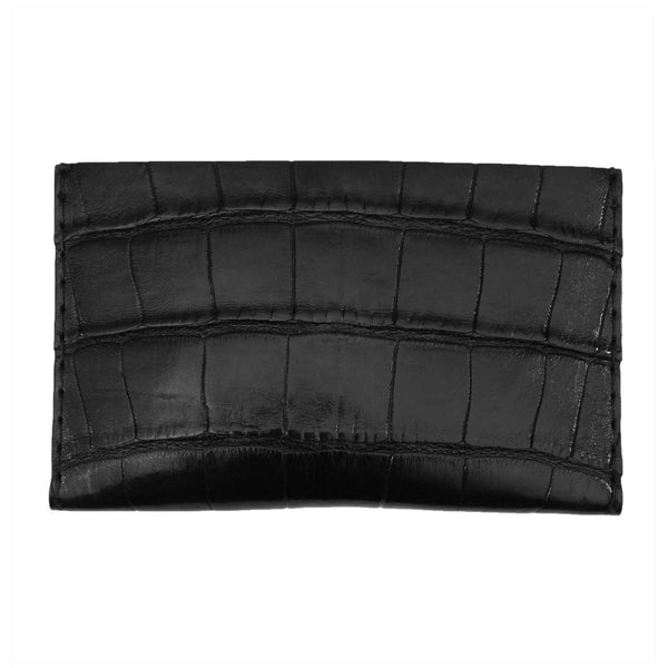 Black Alligator Leather Card Holder