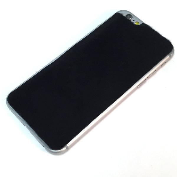 Black Kangaroo Hair iPhone 6/6s Leather Skin