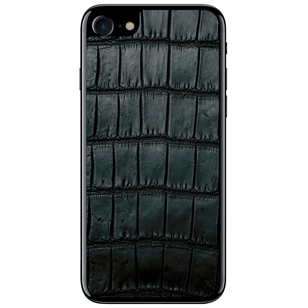 Black Oiled Alligator iPhone 7 Leather Skin