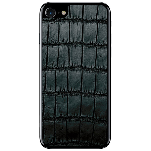 Black Oiled Alligator iPhone 8 Leather Skin