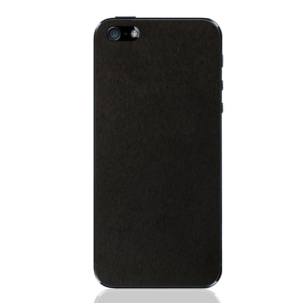 Black Pony Hair iPhone 5 - 5S - SE Leather Skin