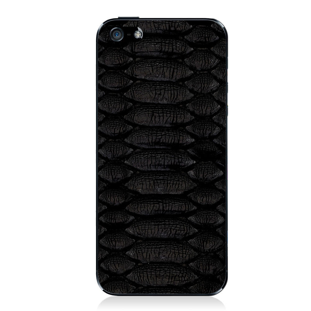 Black Python iPhone 5 - 5S - SE Leather Skin