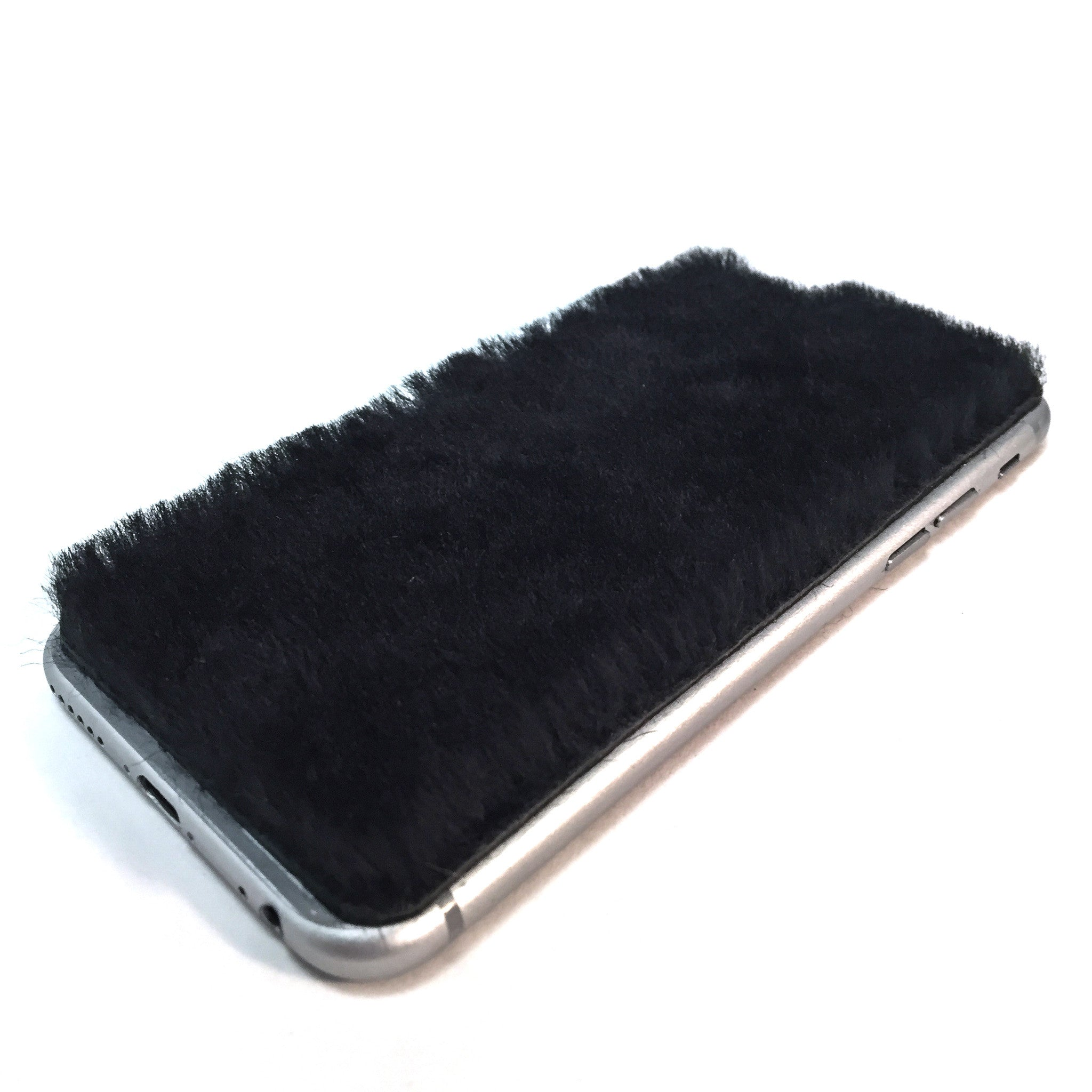 Black Shearling iPhone 8 Leather Skin