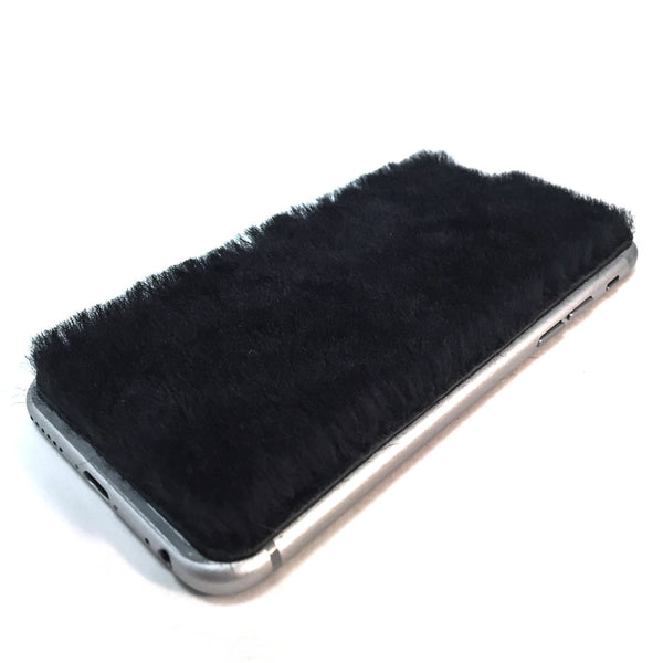 Black Shearling iPhone 6/6s Leather Skin