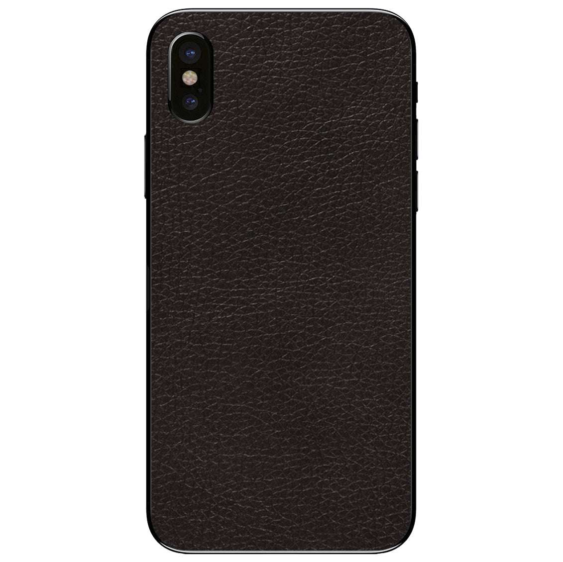 Black iPhone X Leather Skin