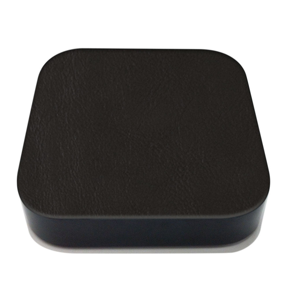Black Apple TV Leather Cover