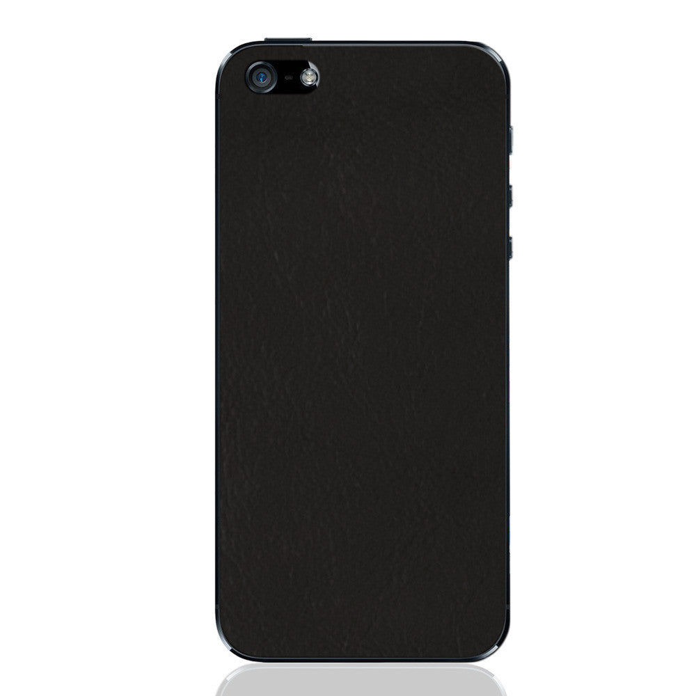 Black iPhone 5 - 5S - SE Leather Skin
