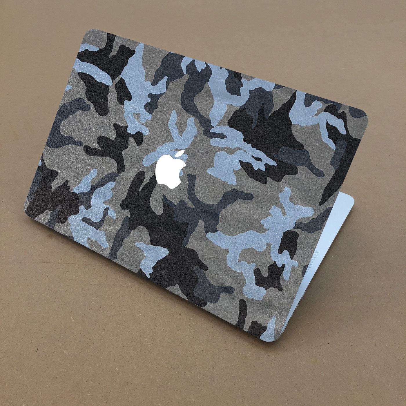 Blue Camouflage MacBook Leather Cover