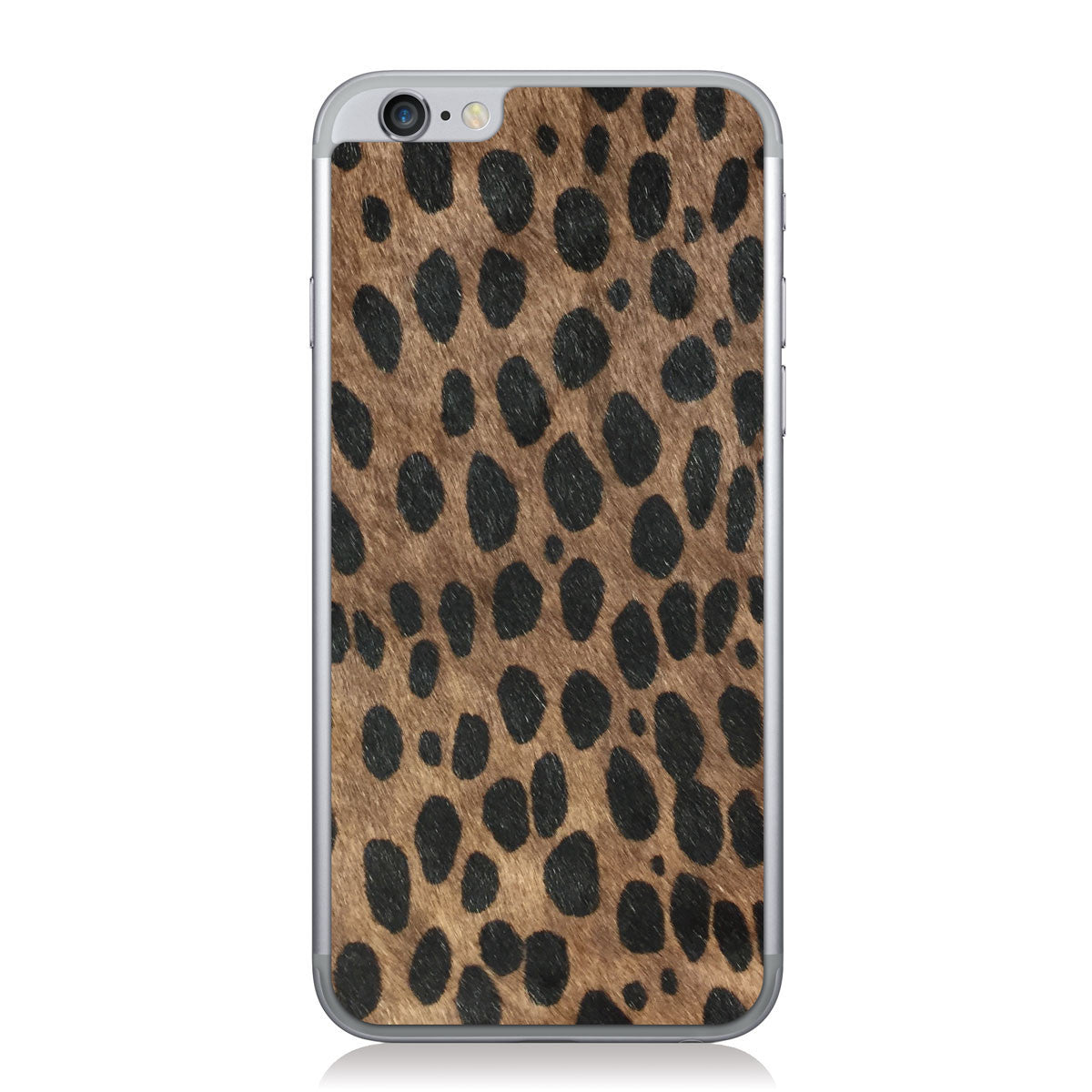 Brown Cheetah Print Pony iPhone 6/6s Leather Skin