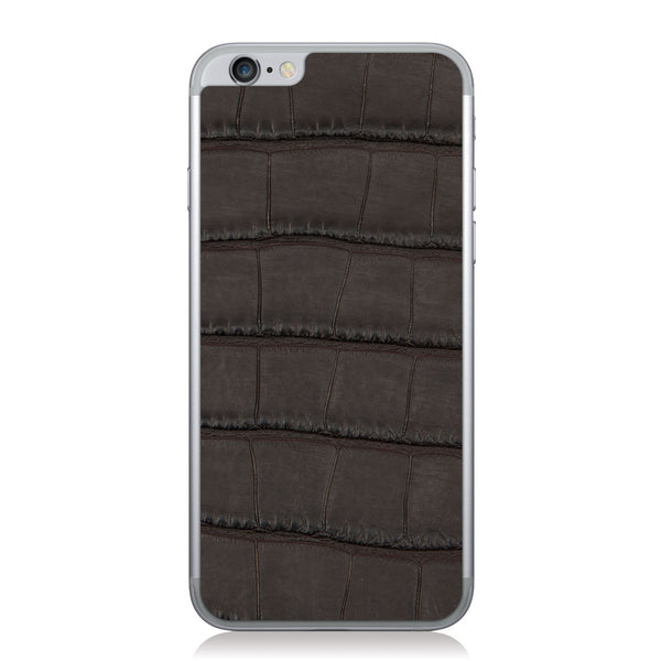 Brown American Alligator iPhone 6/6s Leather Skin