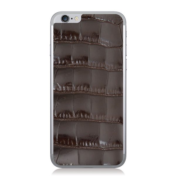 Gloss Brown American Alligator iPhone 6/6s Leather Skin