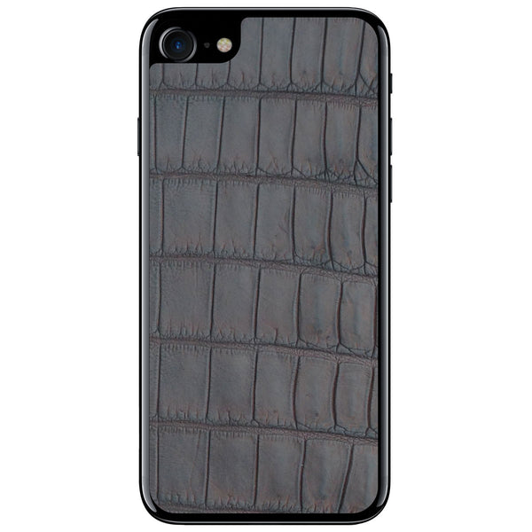 Brown Oiled Alligator iPhone 8 Leather Skin