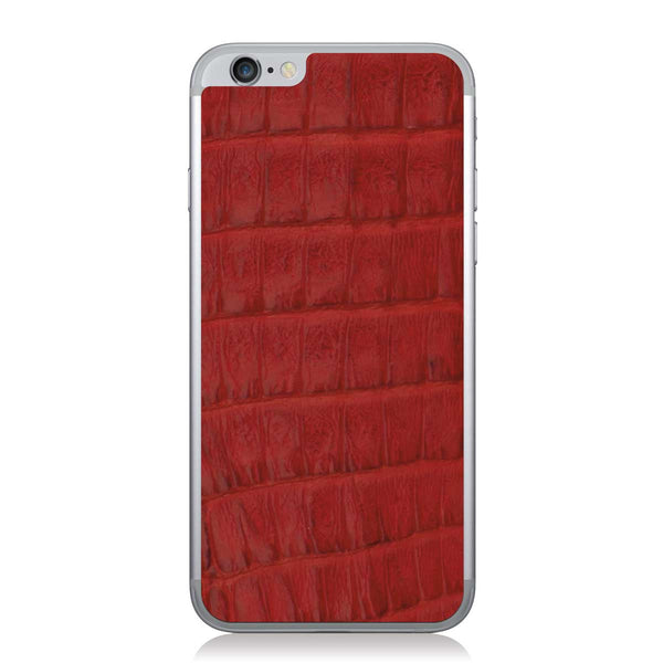 Red Crocodile iPhone 6/6s Leather Skin