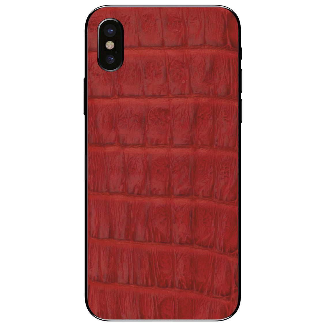 Red Crocodile iPhone X Leather Skin