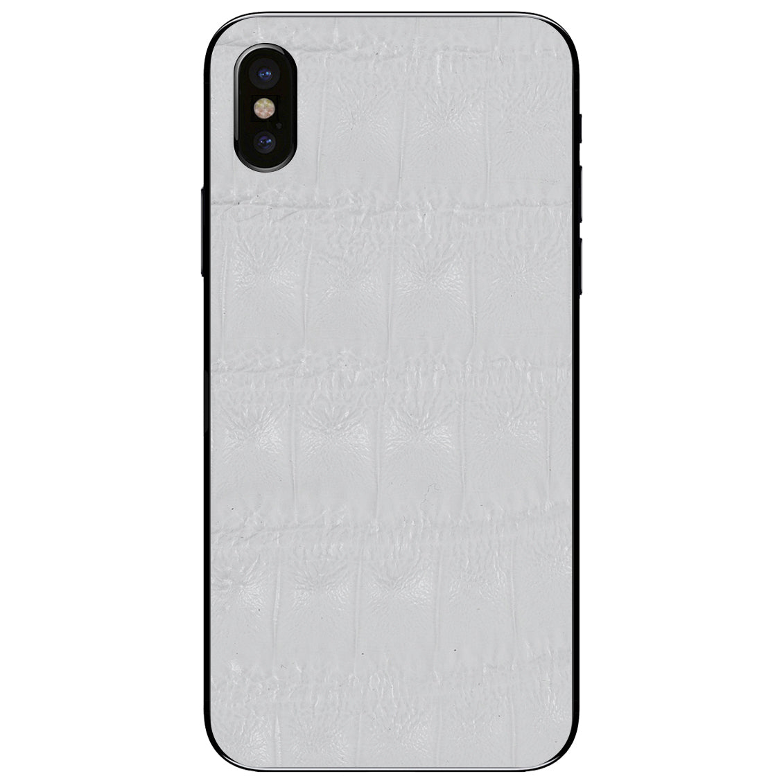 White Crocodile iPhone X Leather Skin