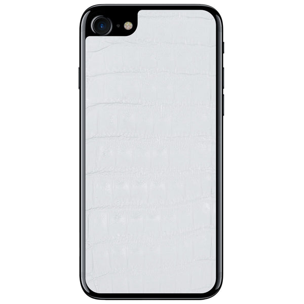 White Crocodile iPhone 8 Leather Skin