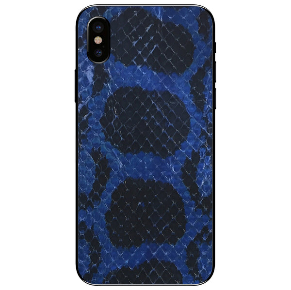 Cobalt Anaconda iPhone XS Leather Skin