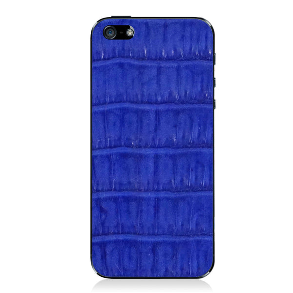 Cobalt Crocodile iPhone 5 - 5S - SE Leather Skin