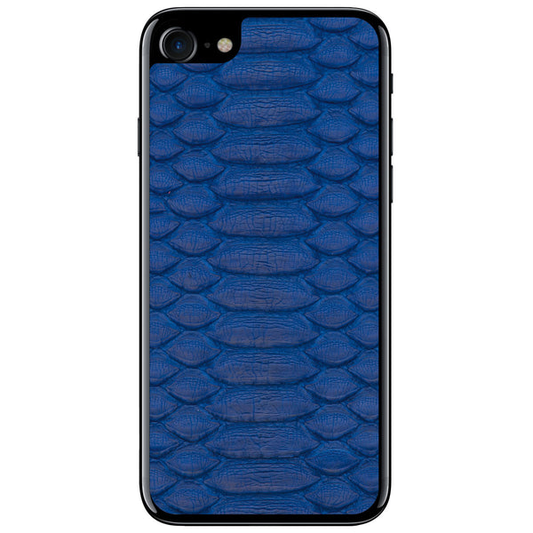 Cobalt Python iPhone 7 Leather Skin