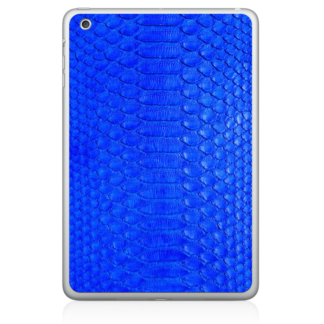 Cobalt Python iPad Air Leather Skin