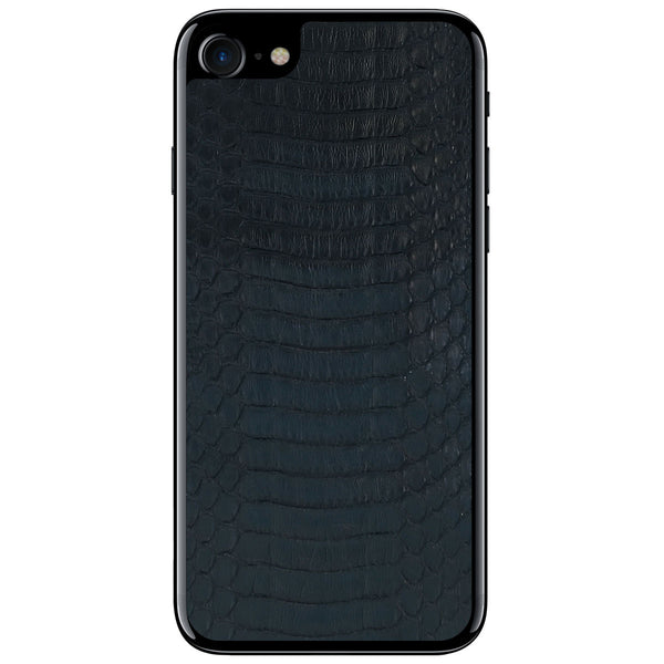 Black Copperhead iPhone 8 Leather Skin