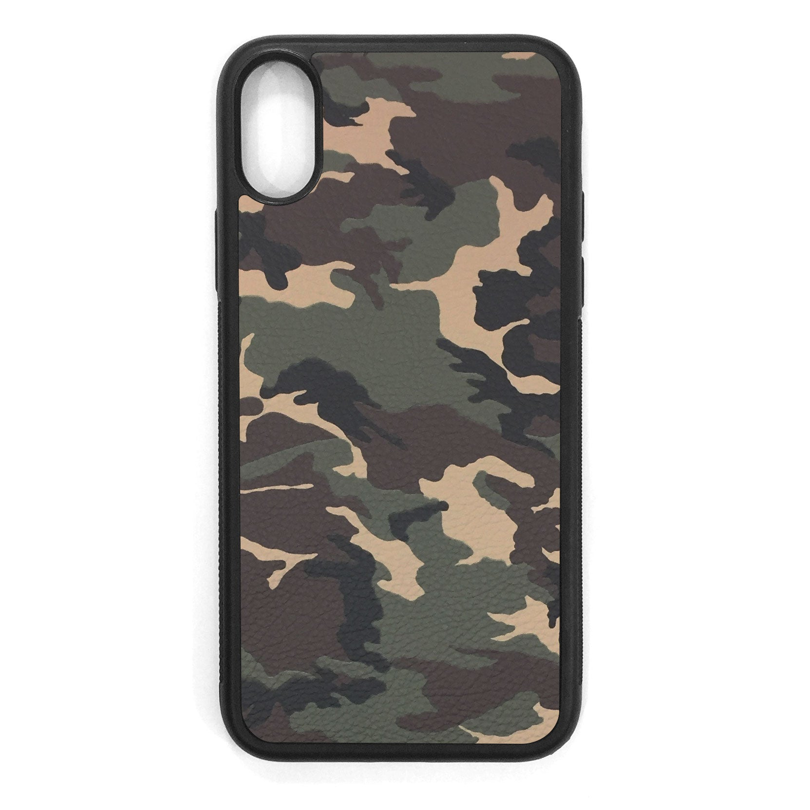 Camouflage iPhone X Leather Case