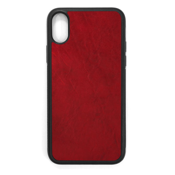 Crimson iPhone XS Leather Case