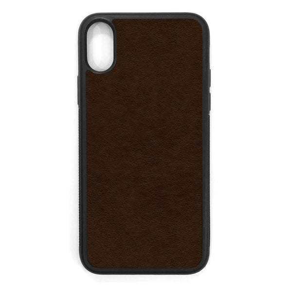 Espresso iPhone XS Leather Case