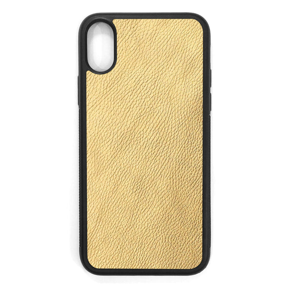 Gold iPhone X Leather Case