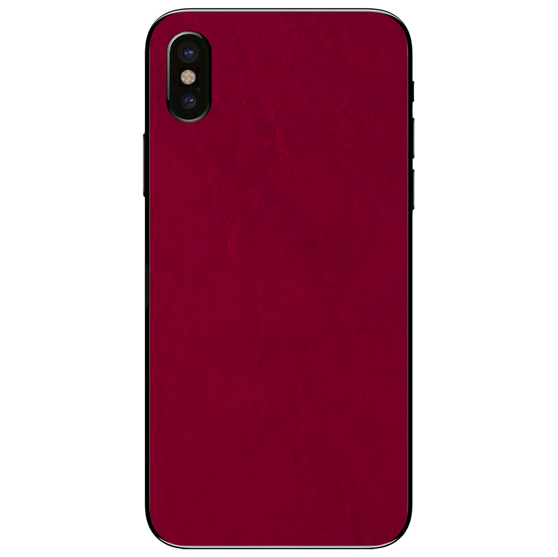 Crimson iPhone X Leather Skin