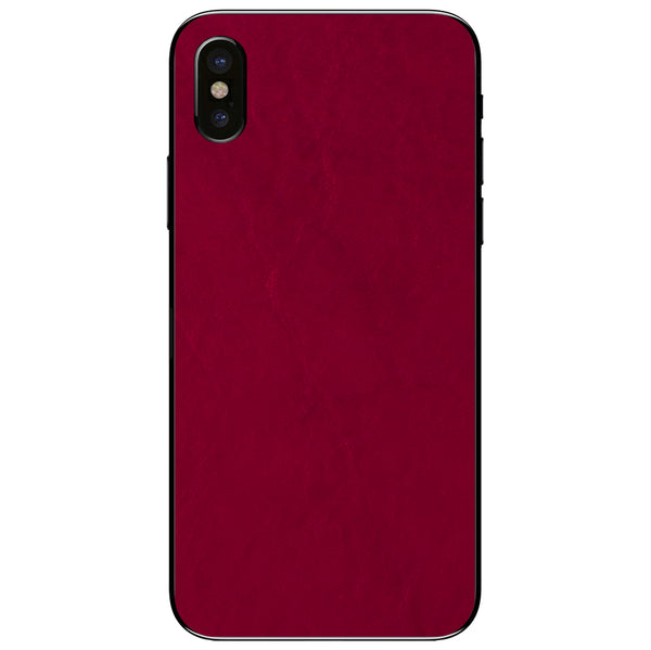 Crimson iPhone XS Leather Skin
